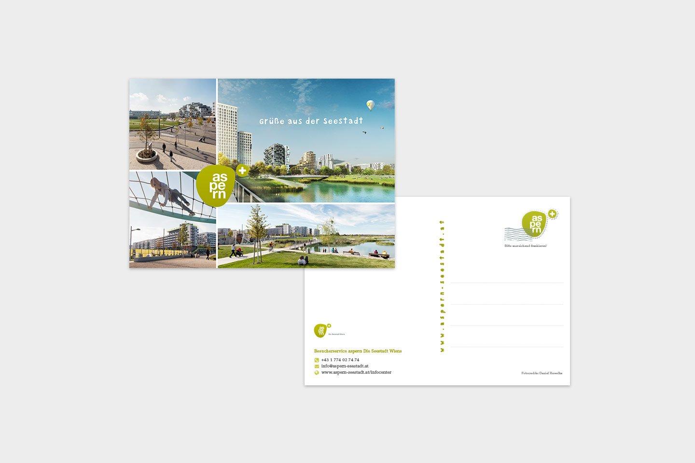 aspern Seestadt Postkarte Collage
