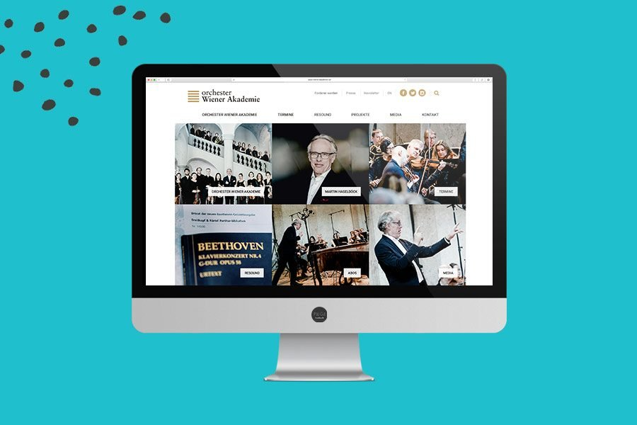 Website Orchester Wiener Akademie Overview