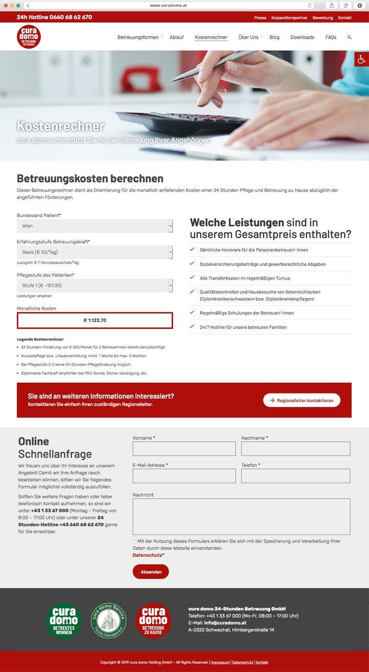 Website curadomo Screenshot