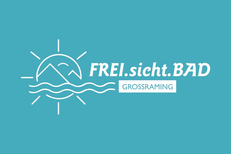 FREI.sicht.BAD Logodesign invertiert