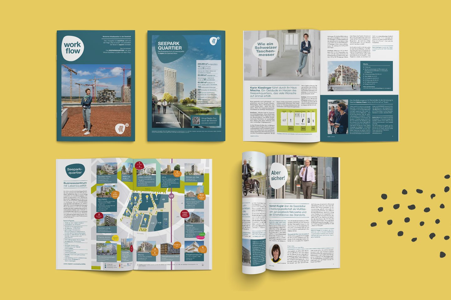 aspern Seestadt | Magazin Workflow Collage