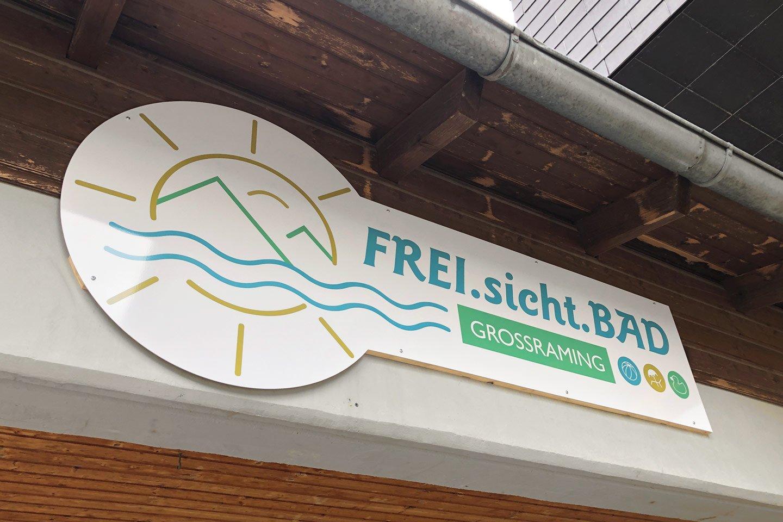 Freisichtbad Tafel Eingangsbereich