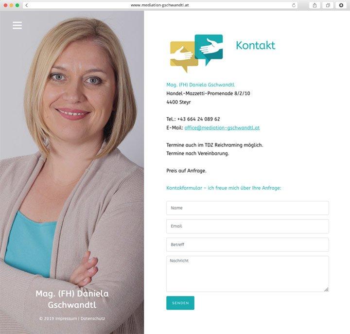 Mediation Gschwandtl Website Screenshot