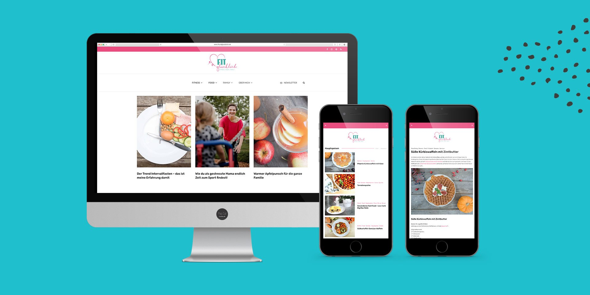 Fit & Glücklich Website Collage