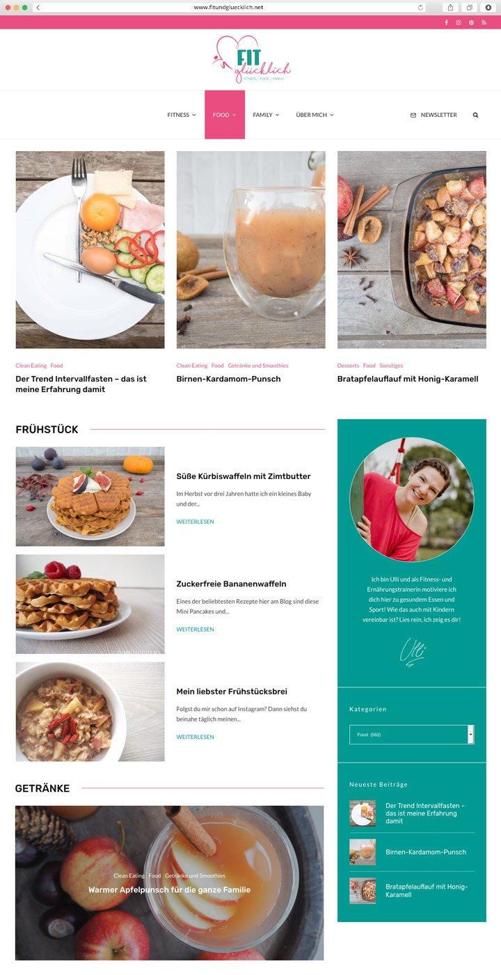 Fit & Glücklich Website Screenshot