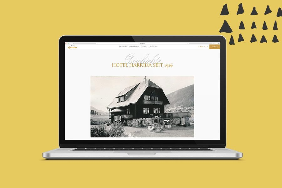 Hotel Harrida Website Überblick