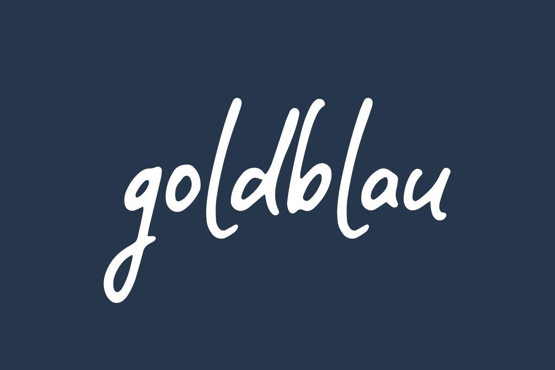 Logo Design goldblau