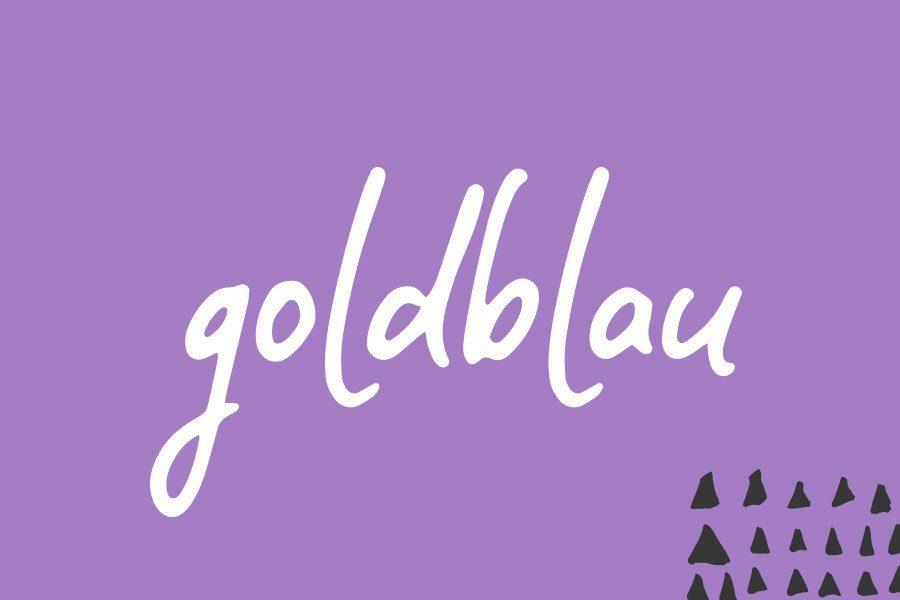 Goldblau Logodesign Überblick