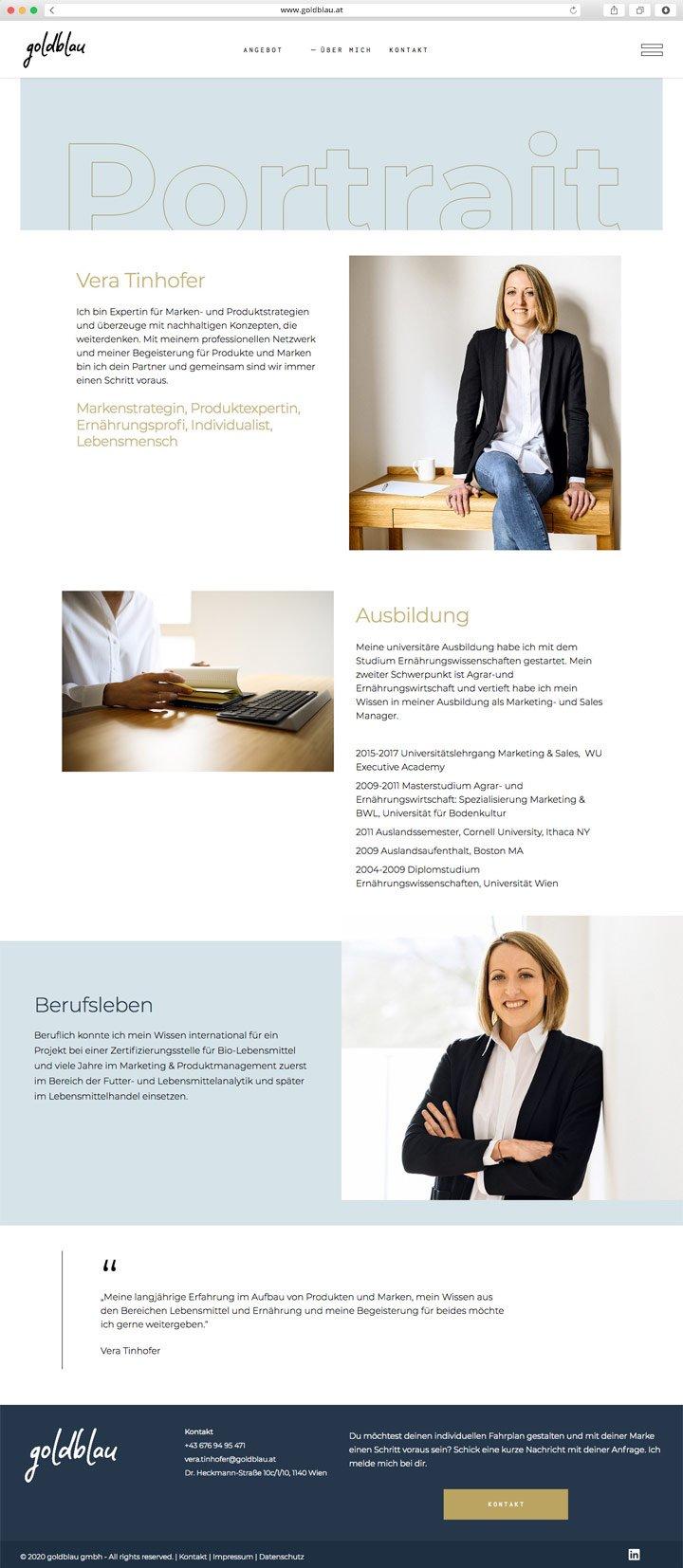Goldblau Website Screenshot