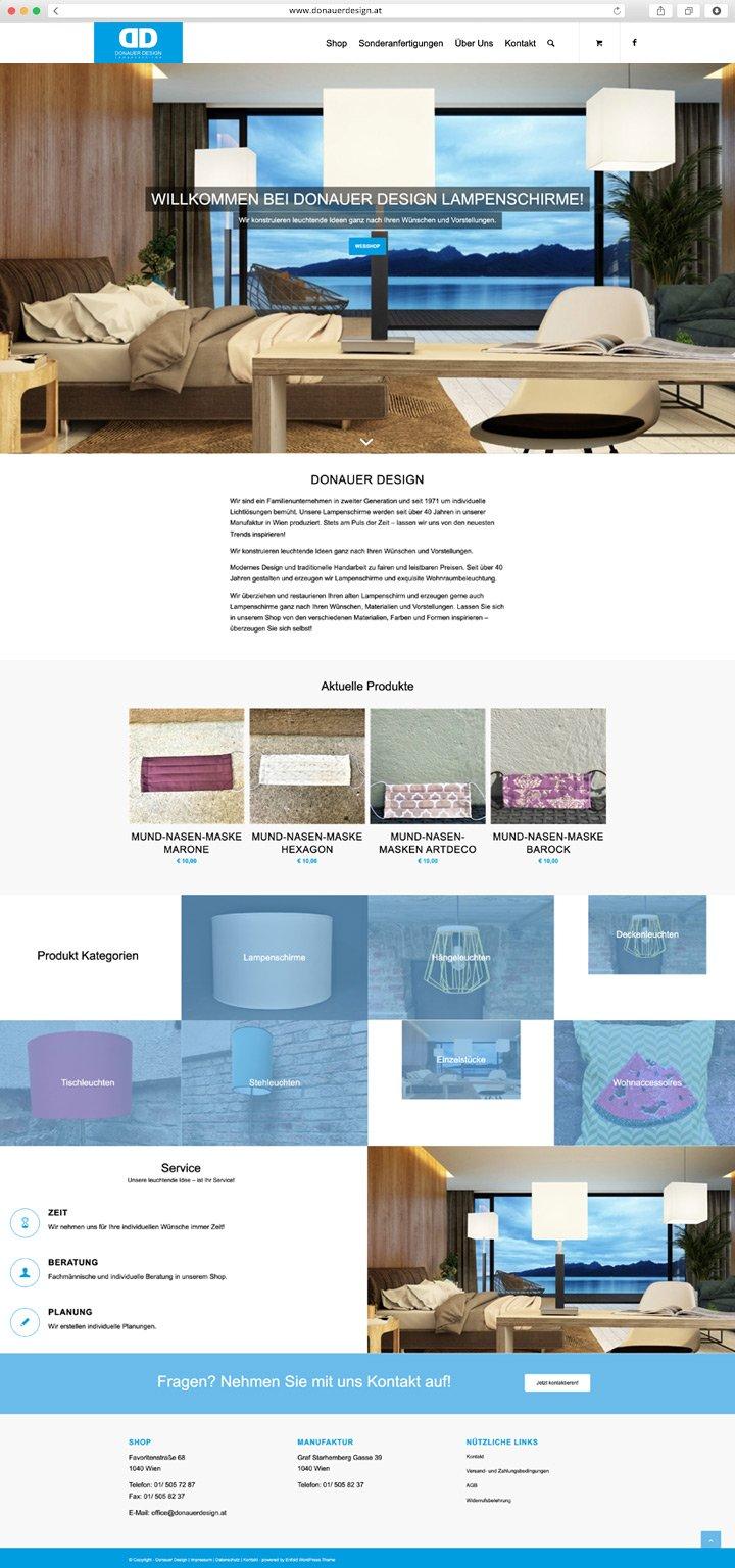 Donauer Website Screenshot