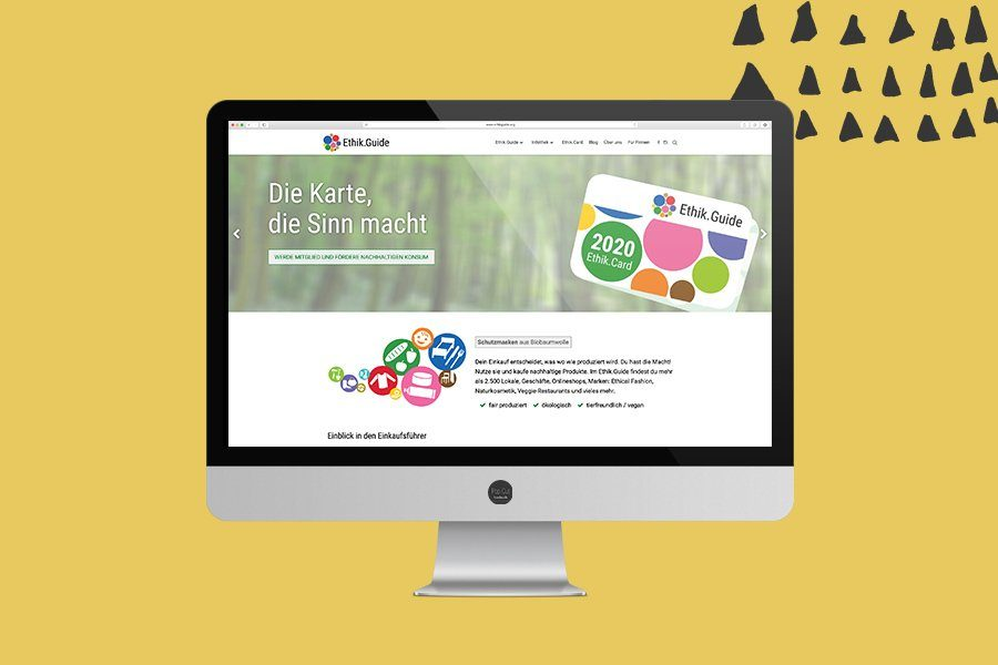 Ethik.Guide Website Überblick