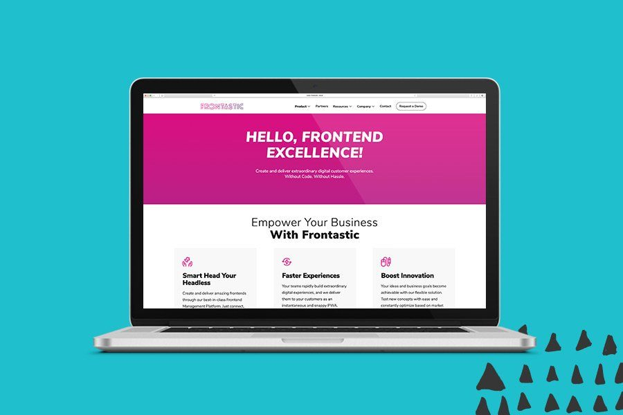 Frontastic Website Overview