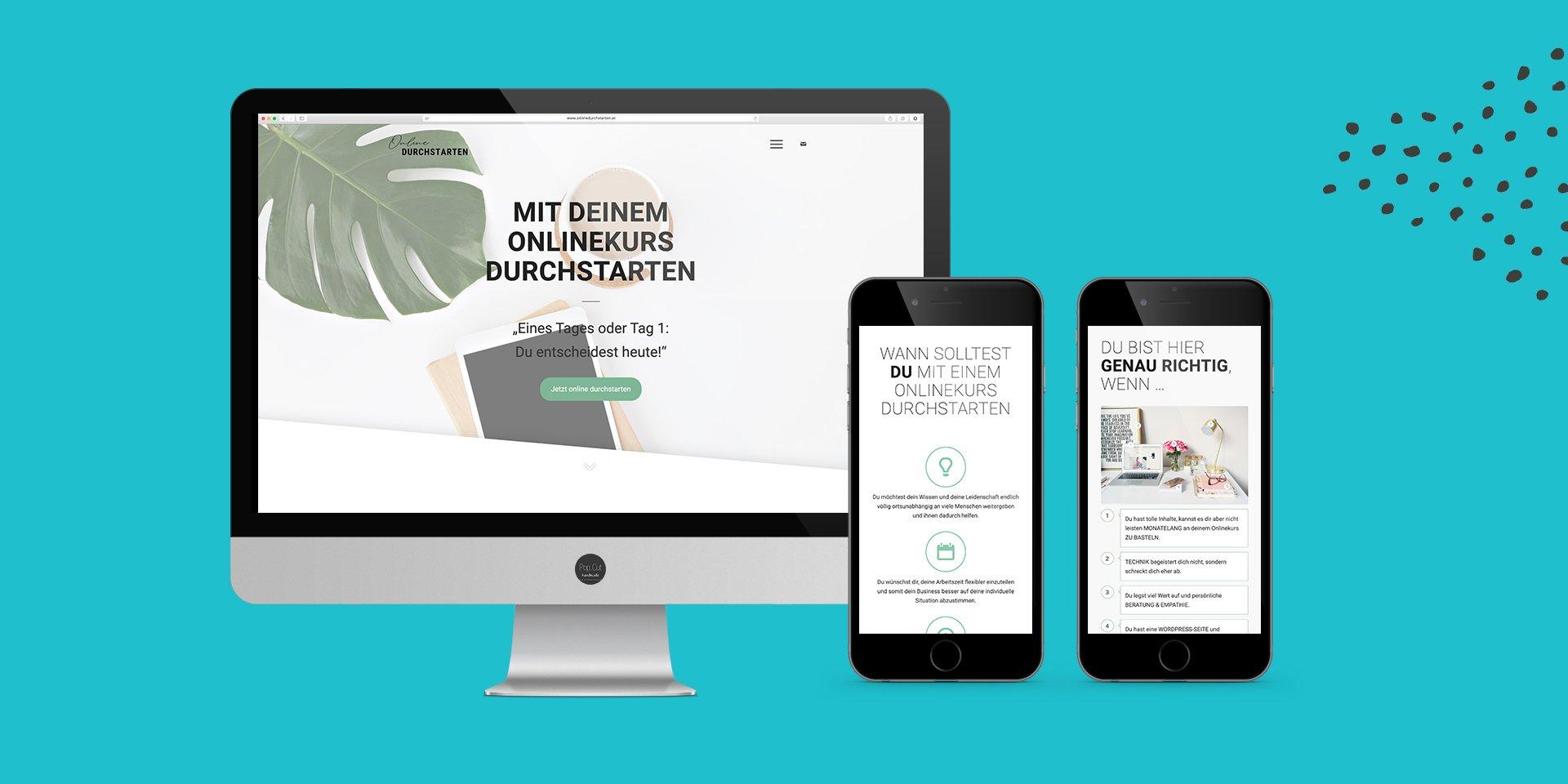 Onlinedurchstarten Website Collage
