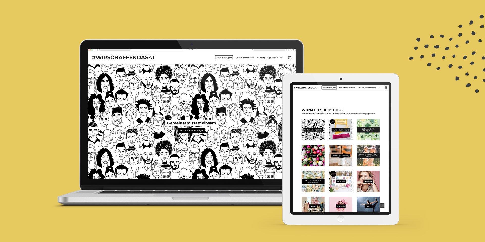 Wir schaffen das Website Collage