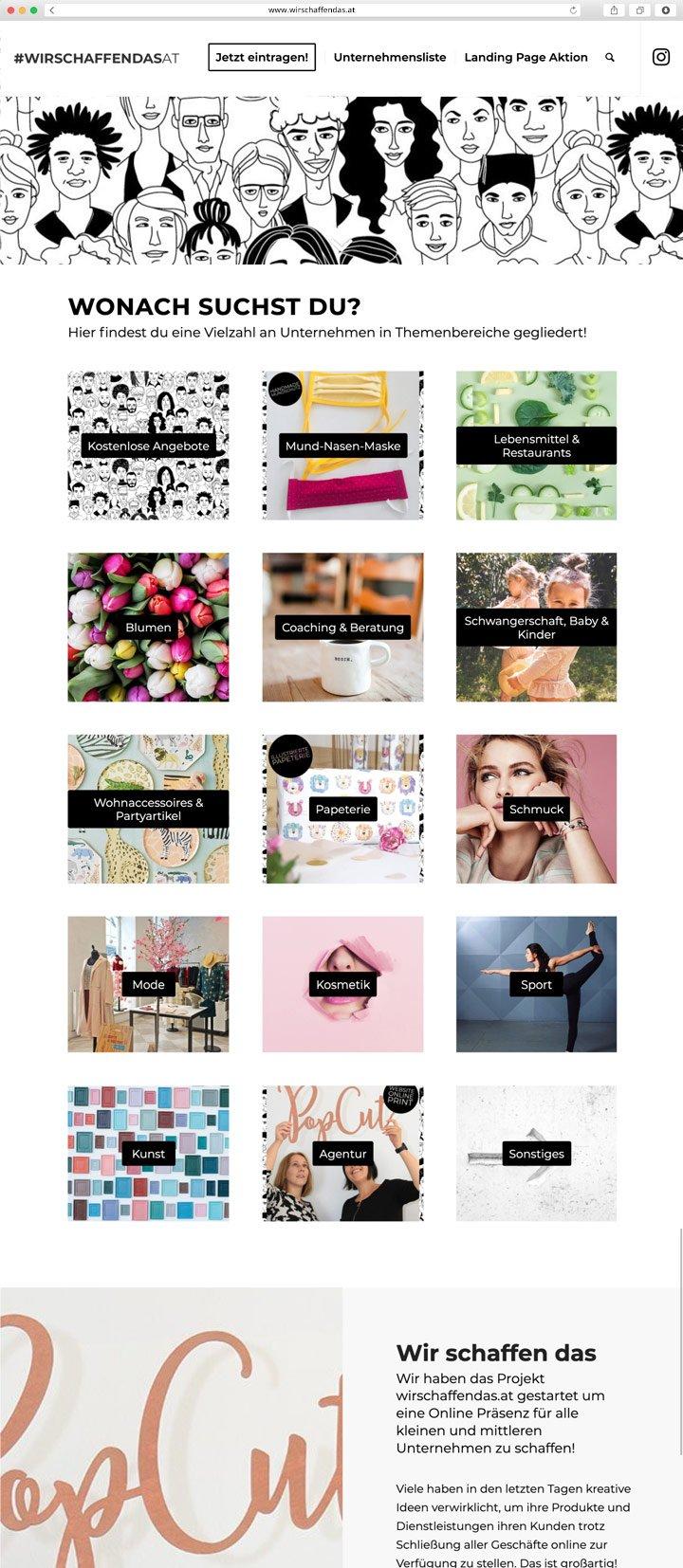 Wir schaffen das Website Screenshot