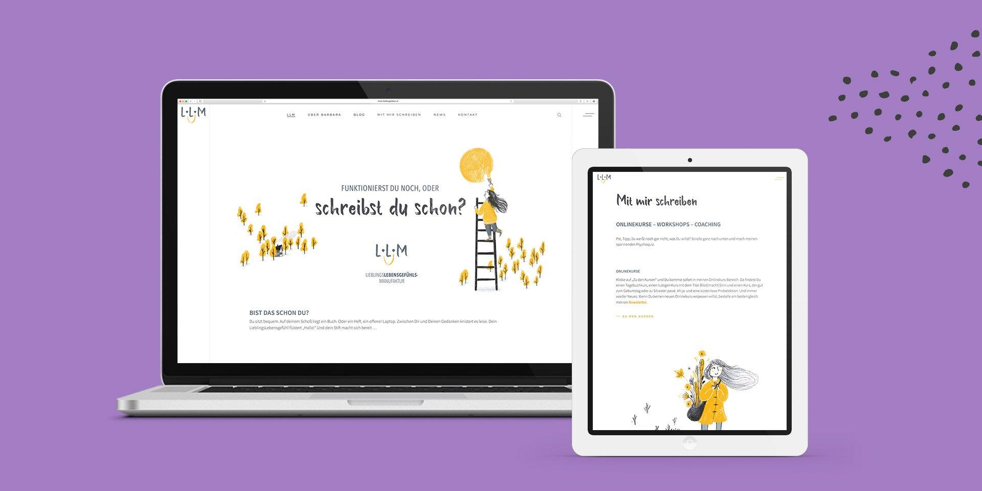 Mein Lieblingsleben Website Collage