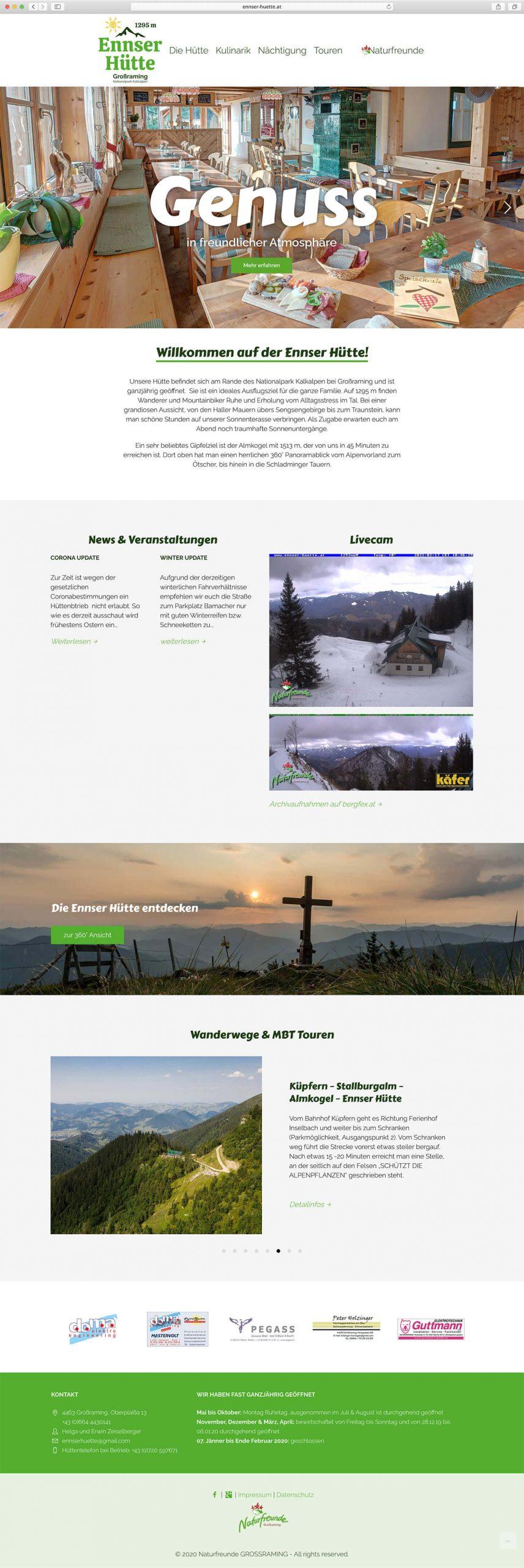 Screenshot Ennser Hütte