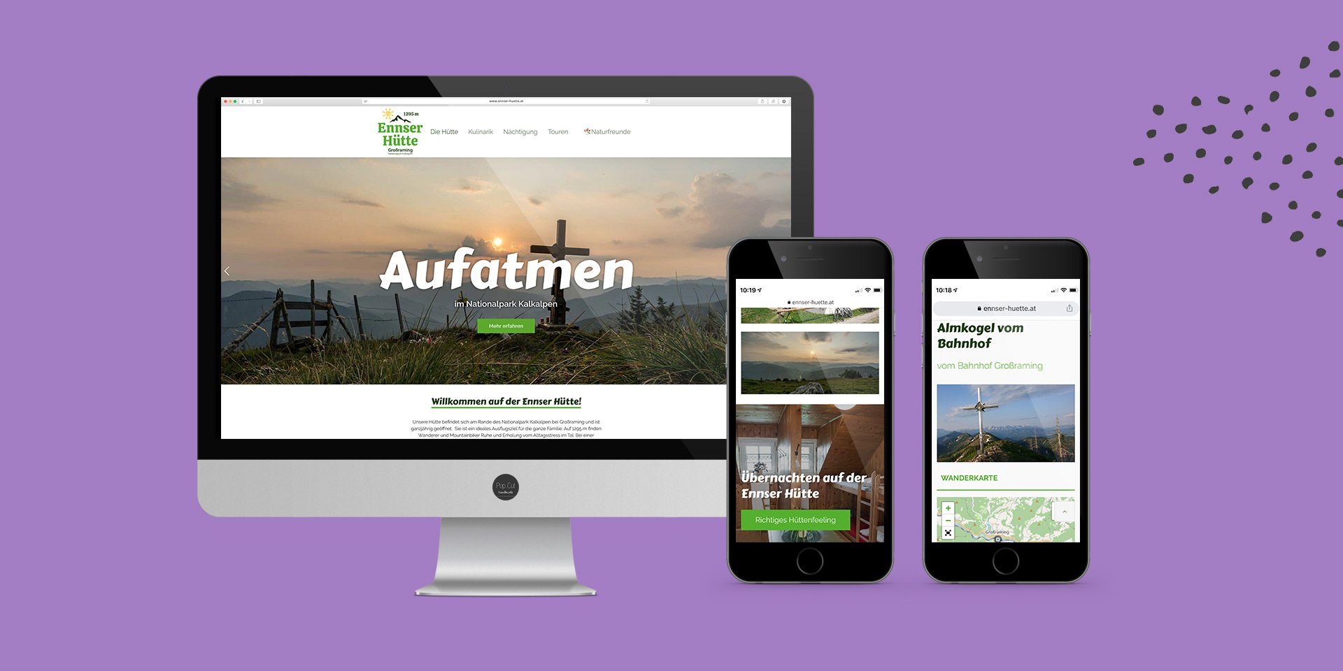 Website Detail Ennser Hütte