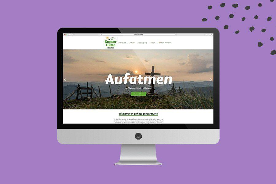 Website Overview Ennser Hütte