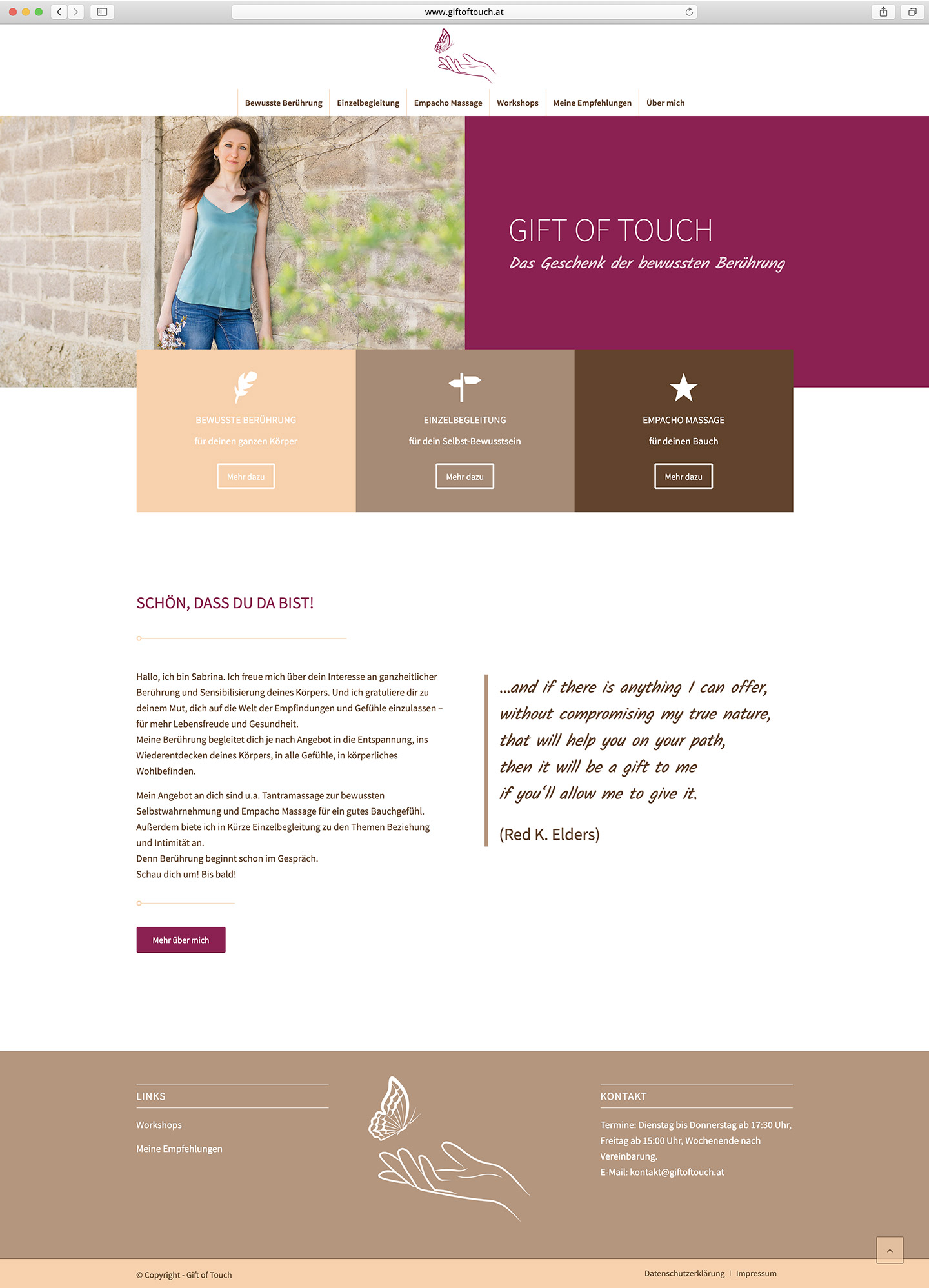 Gift of touch Website Screenshot