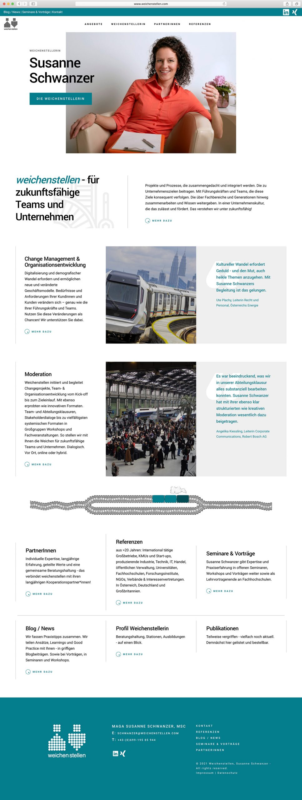 Weichenstellen Website Screenshot