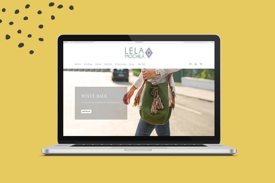 Lela Mochila Website Overview