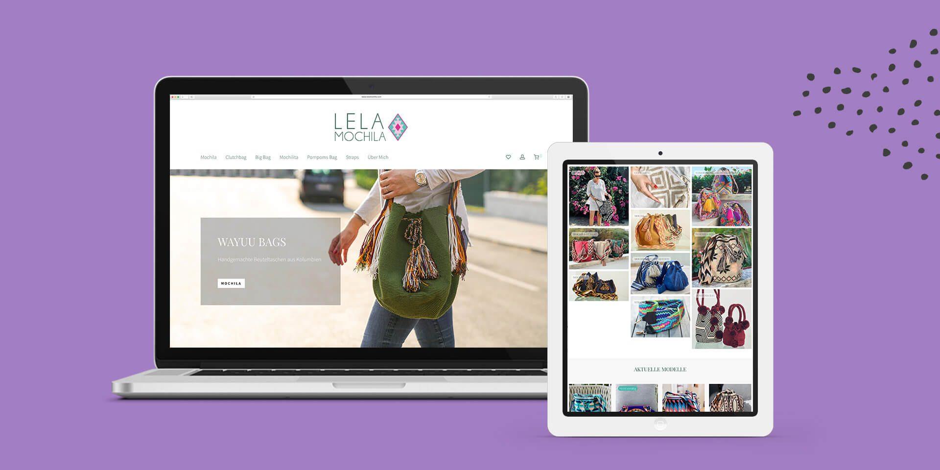 Lela Mochila Website Detail
